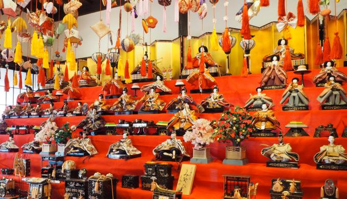 山梨県甲州市-ひな飾りと桃の花まつり(甘草屋敷)