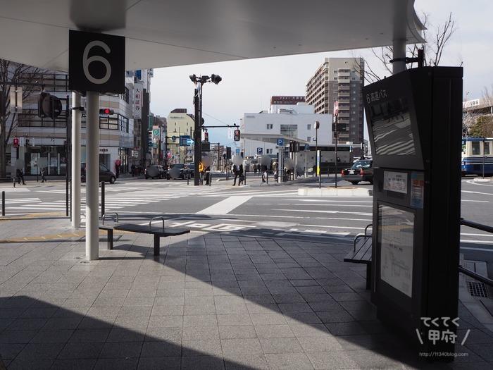 甲府駅バスターミナル6番のりば