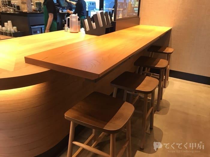 スターバックスコーヒー甲府平和通り店(座席)