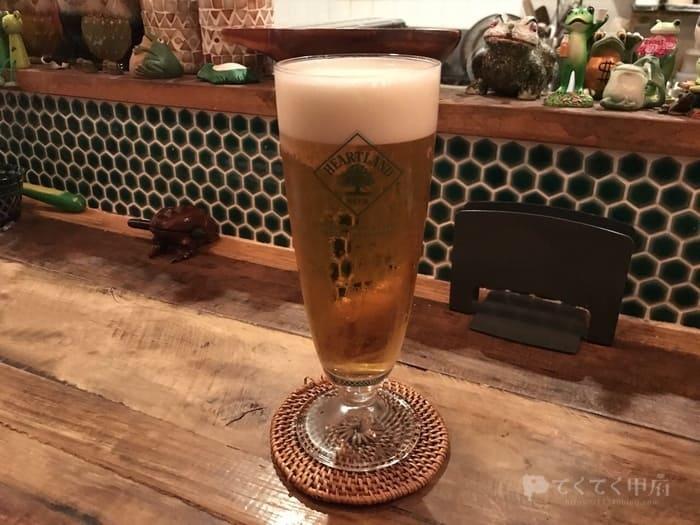 山梨県甲府市・甲府駅-発酵酒場かえるのより道(ハートランドビール)