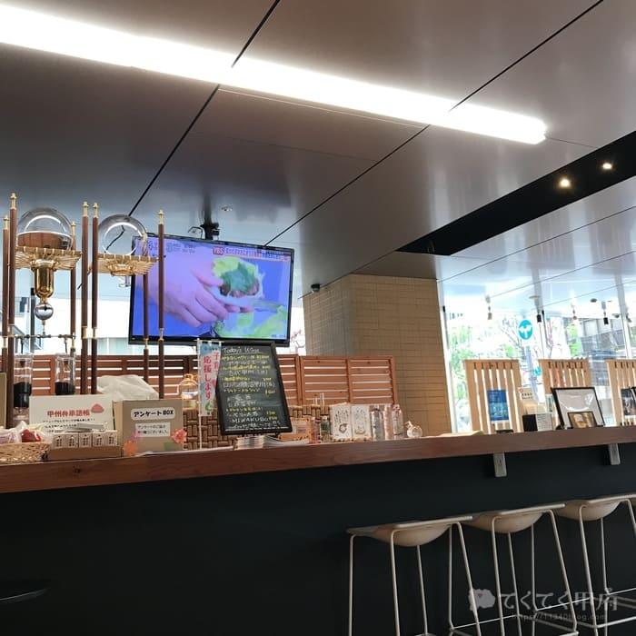 山梨県甲府市・甲府駅-防災新館「オープンカフェまるごとやまなし」