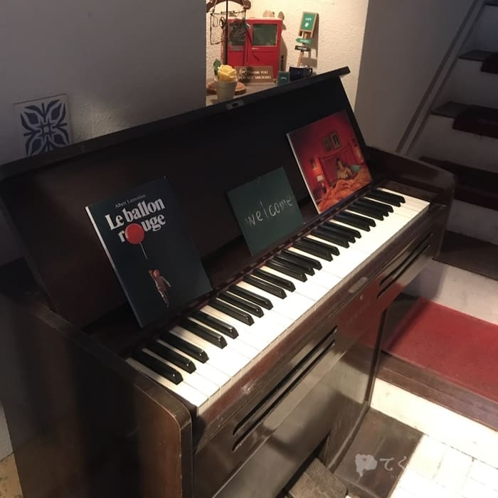 山梨県甲府市・甲府駅北口-DOux CAFE(ドゥカフェ)ピアノ