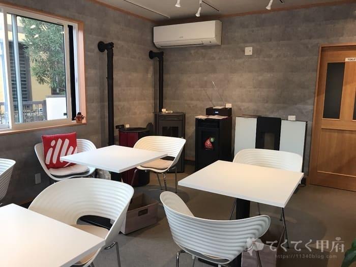 山梨県甲府市貢川-Cafe Rosso(カフェロッソ)店内