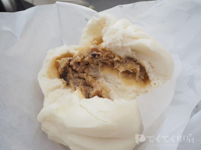 山梨県甲府市国母-甲州心茶(肉まん)
