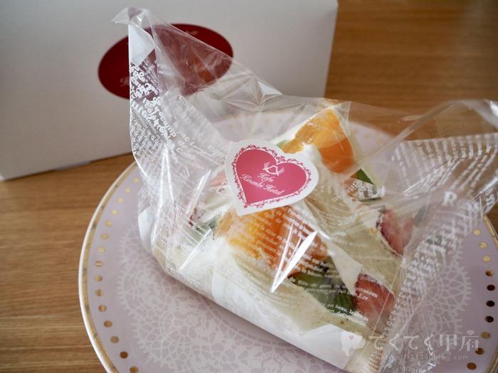 甲府記念日ホテル「カフェテラス ウィステリア」のフルーツサンド