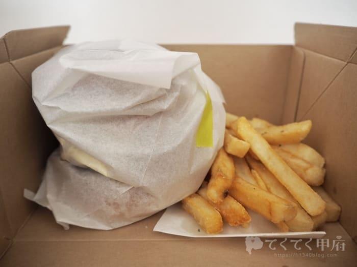 山梨県中央市-un par un(アンパルアン)でハンバーガーをテイクアウト