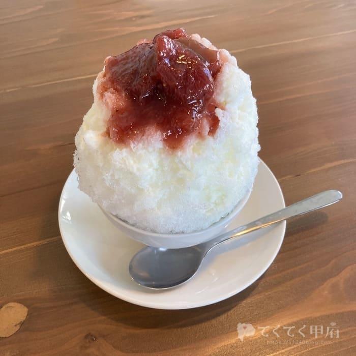 山梨県甲府市-氷と喫茶 ivy(かき氷)