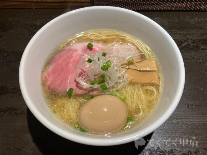 山梨県昭和町-麺やつきみ(塩ラーメン)