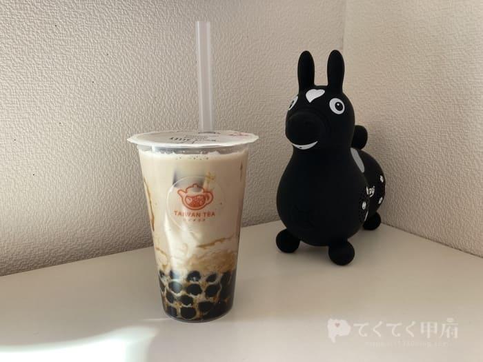 台湾茶房 TAIWAN TEA ホワイトアレイ山梨市駅前店(黒糖タピオカチャイラテ)