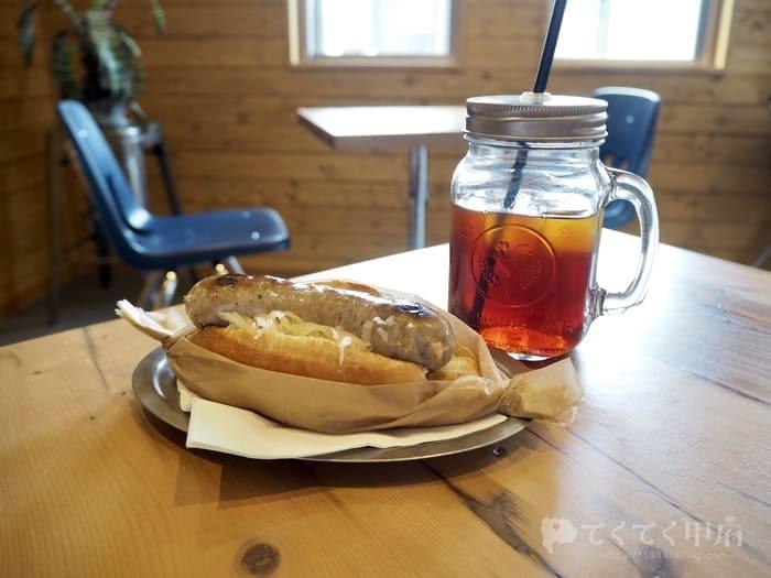 山梨県甲斐市竜王新町-DRAGON COFFEE(ドラゴンコーヒー)のホットドッグ