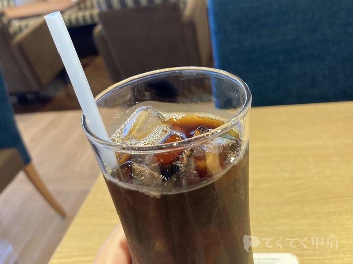 山梨県甲府市-むさしの森珈琲 甲府伊勢店のオーガニックアイスコーヒー