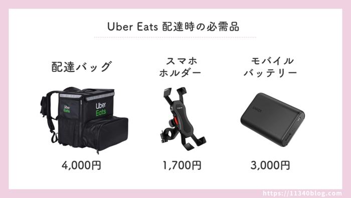 Uber Eats(ウーバーイーツ)配達時の必需品